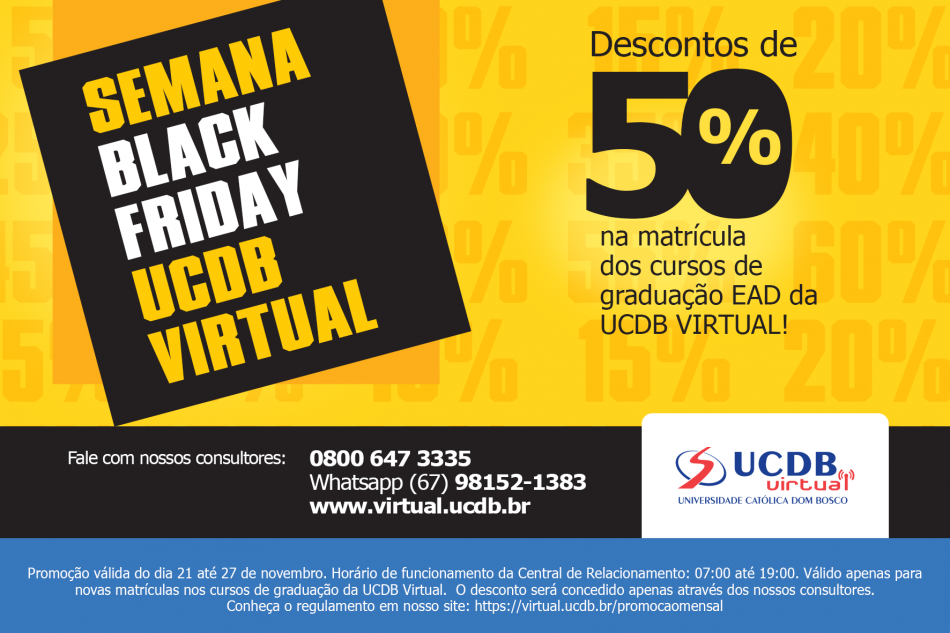 feed7daaab Veja as últimas notícias da UCDB para você que está interessado em UCDB. A semana  Black Friday ...