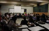 Roda de conversa foi realizada em uma das salas do bloco B da UCDB Tamandaré