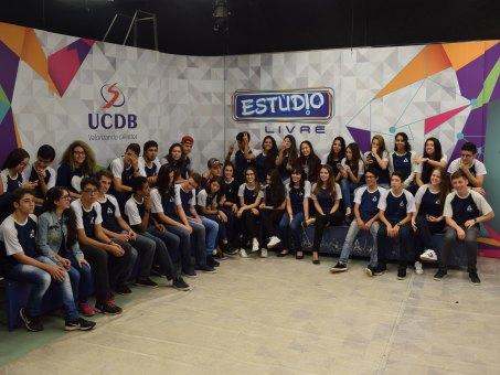 Alunos participaram da gravação do Programa Estúdio Livre