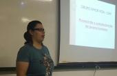Thaissa Millan da Silva, representante do CVV, convidada para ministrar a palestra