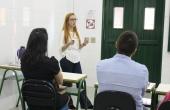 Viviane defendeu a dissertação na sala D109
