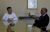 Professor de Lisboa participou de reunião com Reitor da Católica, Pe. Ricardo Carlos