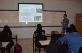 Felipe Porto Carreiro durante palestra ministrada para os acadêmicos