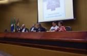 Mesa de autoridades abriu a Semana Teológica antes do início da palestra