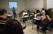 Palestra foi ministrada em uma das salas do Programa de Pós-Graduação em Psicologia