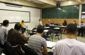 Trabalhos sã apresentados nas salas de aula do bloco B do campus Tamandaré