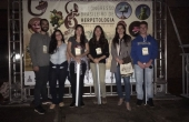 Professora Luciana e acadêmicos que participaram do XIII Congresso de Herpetologia