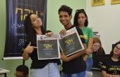 Alunos conheceram a redação do Jornal Em Foco, extensão do curso de Jornalismo da UCDB