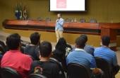 Engenheiro civil Ricardo Oliveira Souza ministrou palestra sobre mercado de trabalho