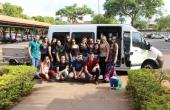 Estudantes e professores partiram para Corumbá nesta sexta-feira pela manhã