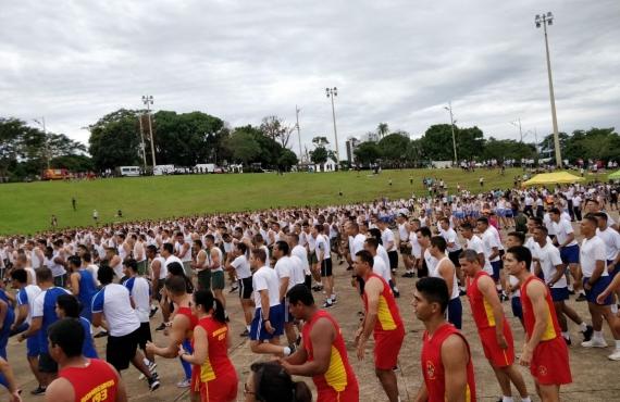 Além de prestarem atendimentos, acadêmicos e professores da UCDB também participaram da corrida