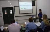 Nathalia Pereira Ribeiro durante a defesa da dissertação