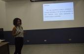 Ozeni durante apresentação da pesquisa à banca avaliativa