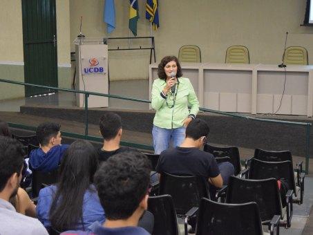 Me. Sandra Regina Bertocini ministrou palestra para acadêmicos de ESA e Engenharia Civil
