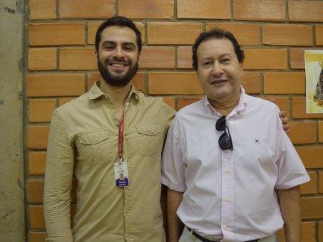 Fernando Magalhães, coordenador do curso de Engenharia Sanitária Ambiental e o presidente da ABES-MS, Aroldo Ferreira Galvão