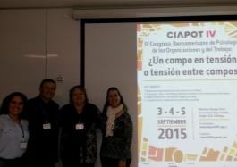 IV Congresso Iberoamericano de Psicología de las Organizaciones y del Trabajo: Un campo en tensión o tensión entre campos? - Chile